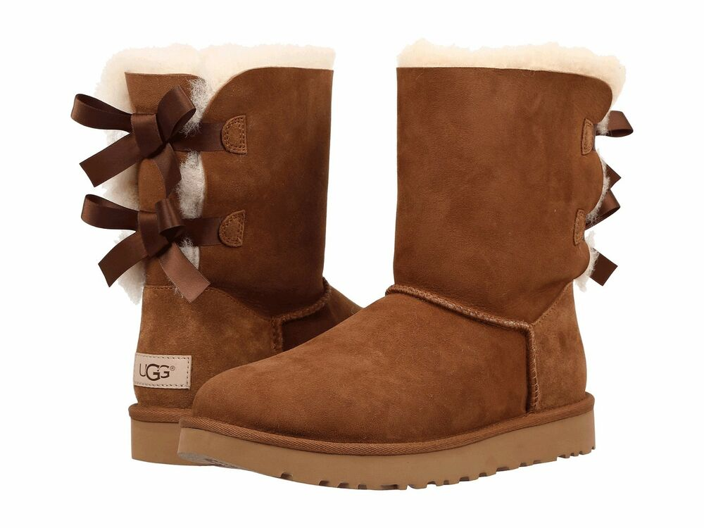 women 39 s shoes ugg bailey bow ii boot 1016225 chestnut 5 6 7 8 9 10 11 new ebay. Black Bedroom Furniture Sets. Home Design Ideas
