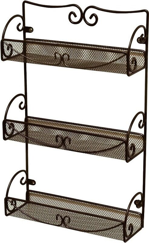 wall mounted kitchen storage rack wall mount hanging organizer kitchen shelf spice bottles 8880