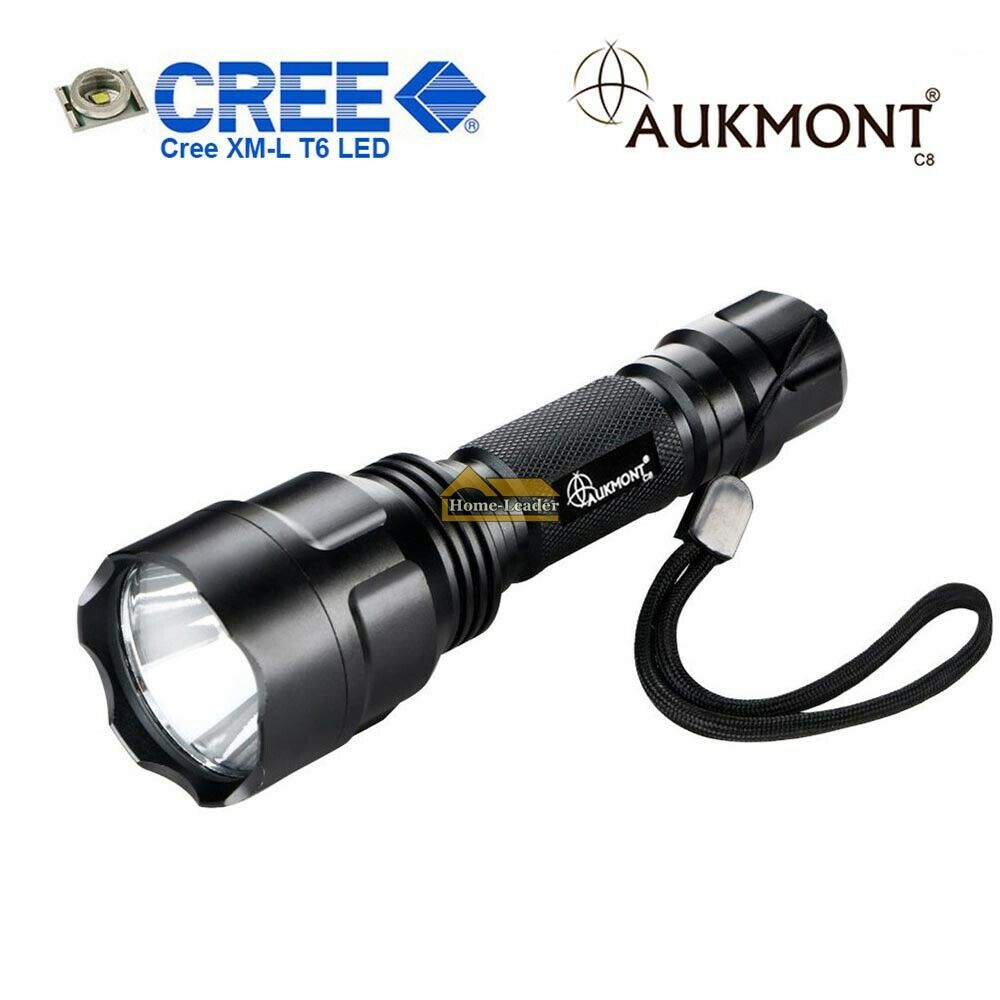 aukmont c8 cree xm l t6 led tactical flashlight torch 1000 lumen 1 mode hunting ebay. Black Bedroom Furniture Sets. Home Design Ideas