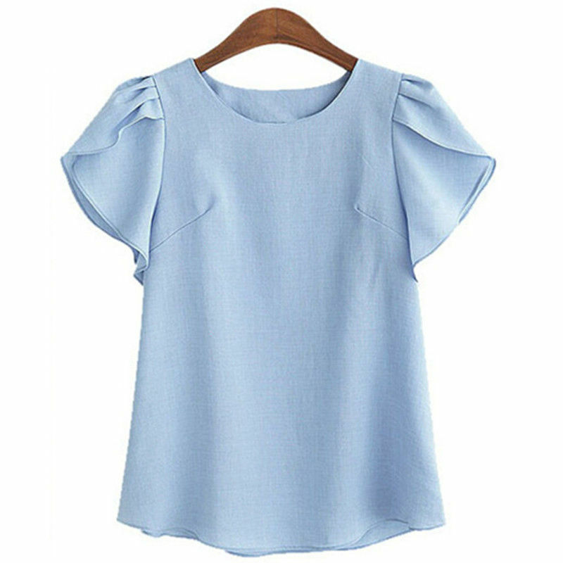 Fashion womens summer casual short sleeve cotton tops for Types of womens shirts