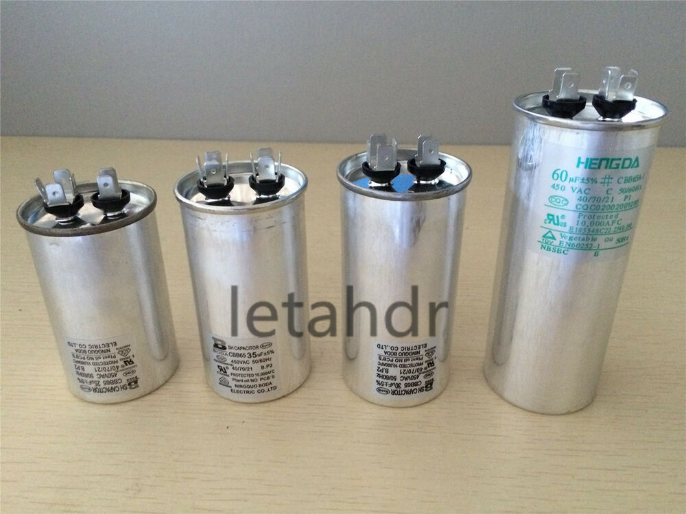 Ac Motor Capacitor Cbb65 450vac Air Conditioner Starting