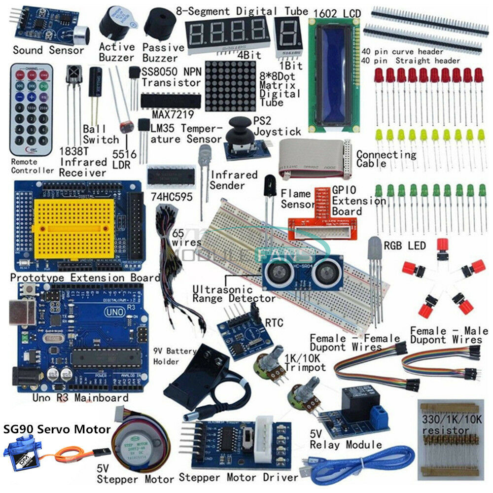 Ultimate Uno R3 Starter Kit For Arduino 1602 Lcd Servo