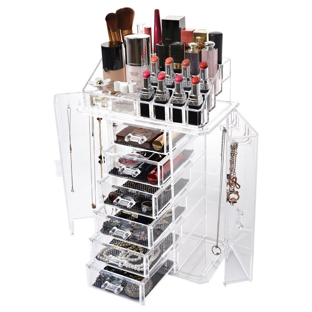 New Clear Acrylic Display Makeup Cosmetic Jewelry Box