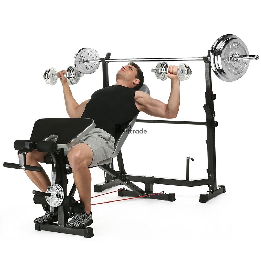 Sporting Weight Bench Lifting Press Bar Home Gym Workout Ebay