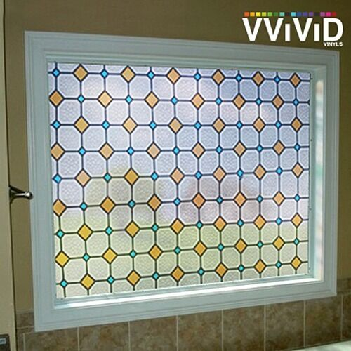 Square Mosaic Tile Frosted Window Decorative Privacy Film