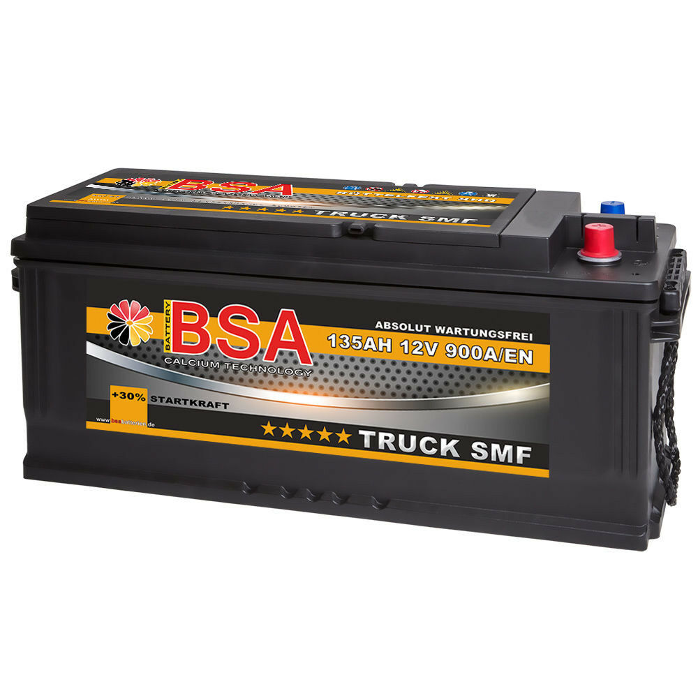 bsa lkw batterie 12v 135ah starterbatterie shd smf traktor. Black Bedroom Furniture Sets. Home Design Ideas