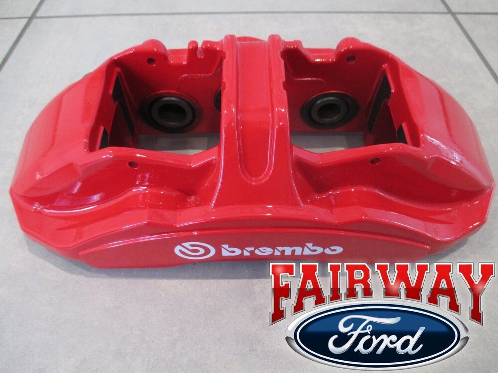 Brembo Gt Brake Kit >> 15 thru 17 Mustang OEM Genuine Ford 4-piece Brembo Red Brake Caliper Kit GT350R | eBay