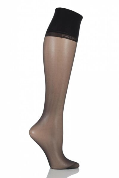 Royaume-UniLadies 1 Pair Falke Pure Matt 20 Knee Highs With Sensitive Top
