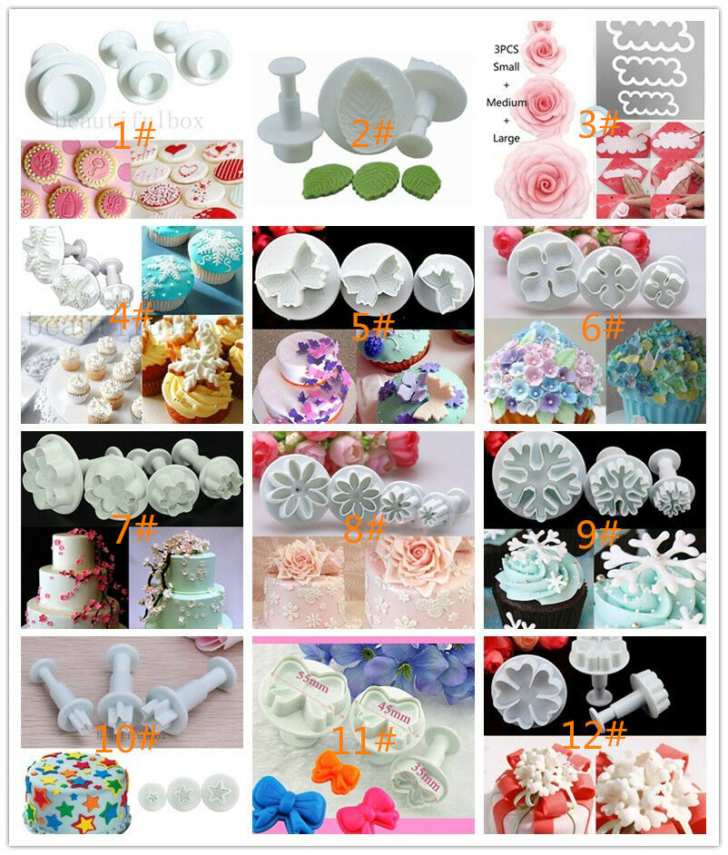 Sugarcraft Cake Decorating And Baking Show : Cookie Flower Cutter Cake Decorating Sugarcraft Fondant ...