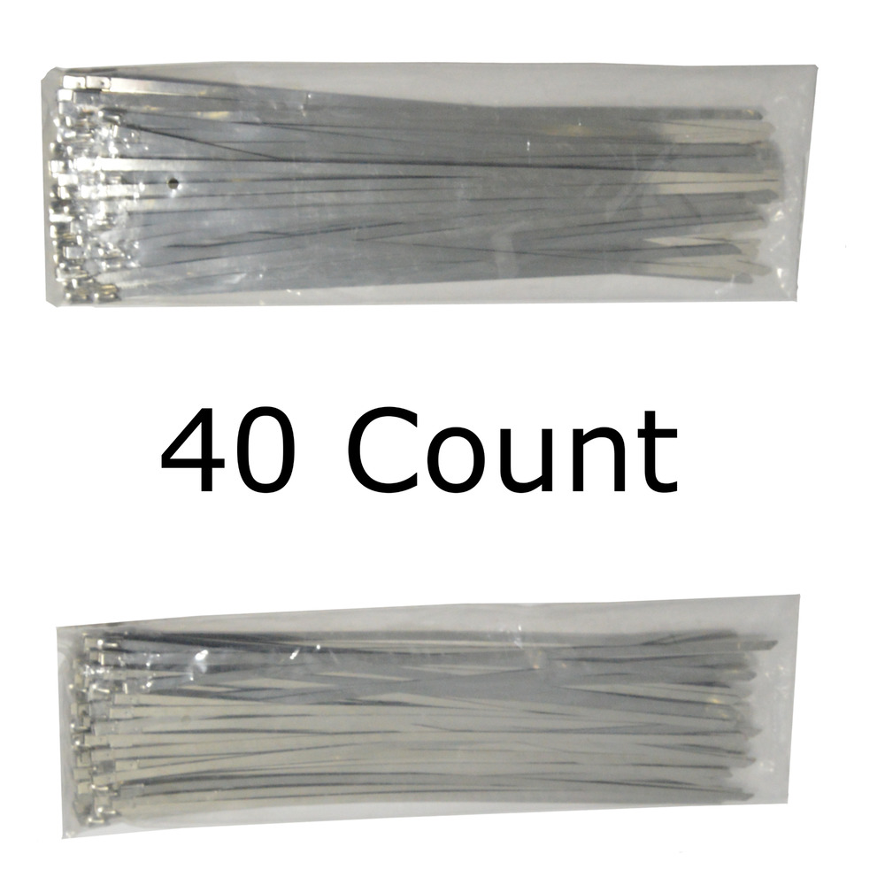 12 Quot Qty 40 Stainless Steel Wire Zip Ties Industrial