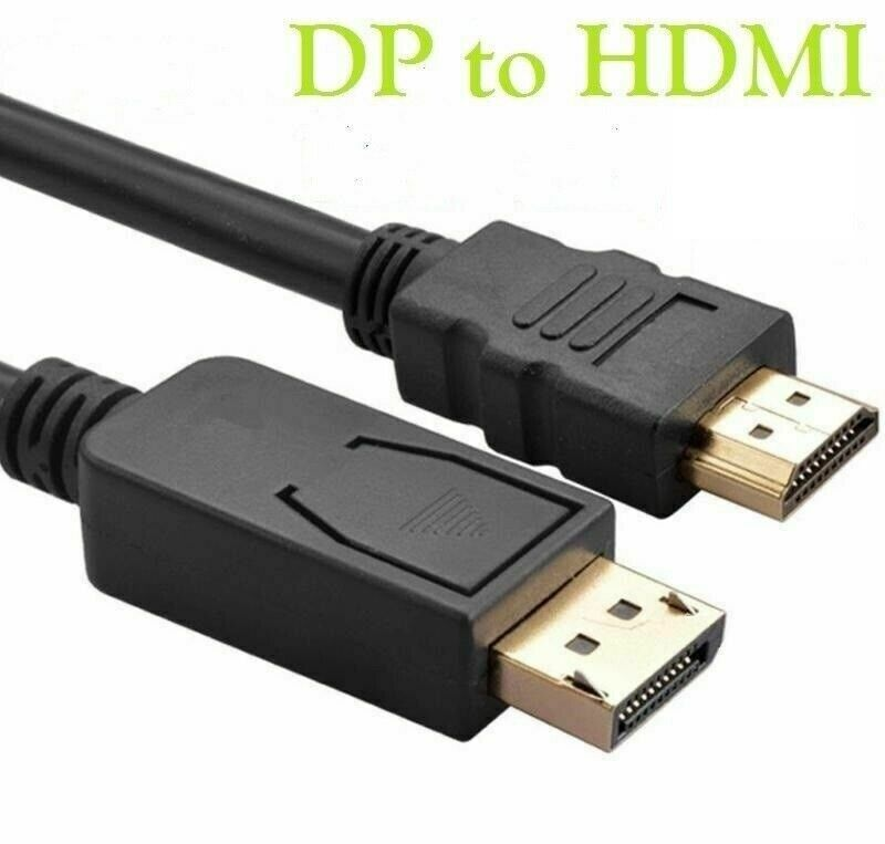 3m display port dp male plug to hdmi cable hd tv led pc monitor laptop av lead ebay. Black Bedroom Furniture Sets. Home Design Ideas