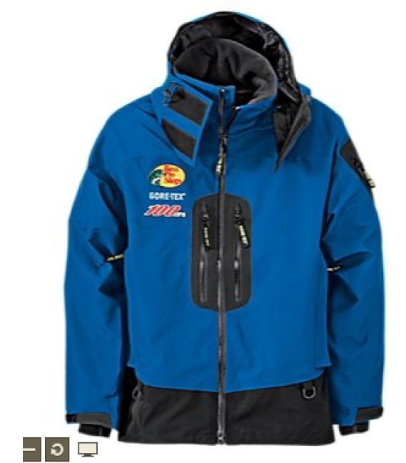 New bass pro shops 100 mph gore tex rain parkas for men for Professional fishing gear