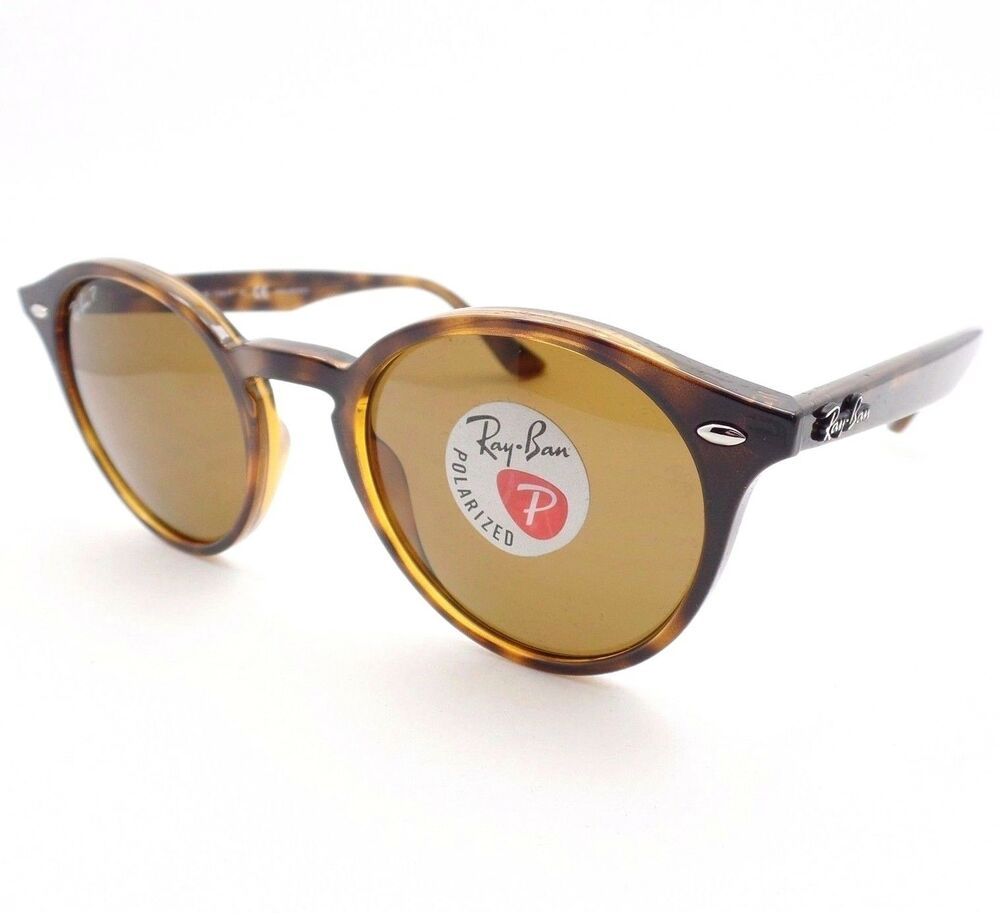 476c5d93de Details about AUTHENTIC Ray Ban RB 2180 710 83 49mm Dark Havana Brown  Polarized Sunglasses New