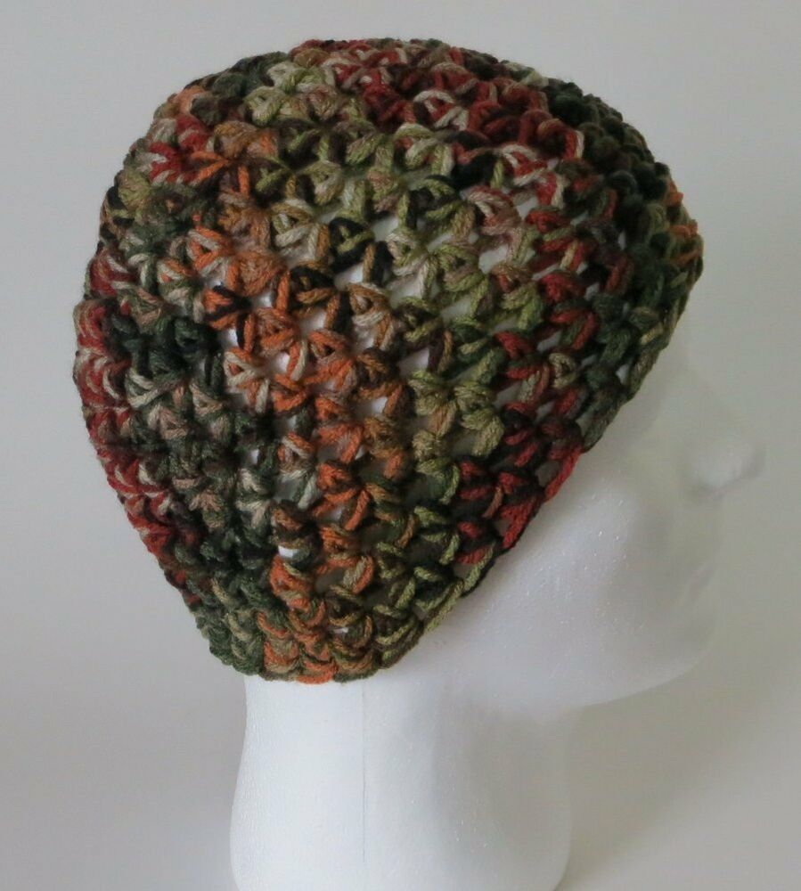 Details about crochet zac brown band style hat camo beanie cap hunting  redneck camouflage mens 70f6627e01d