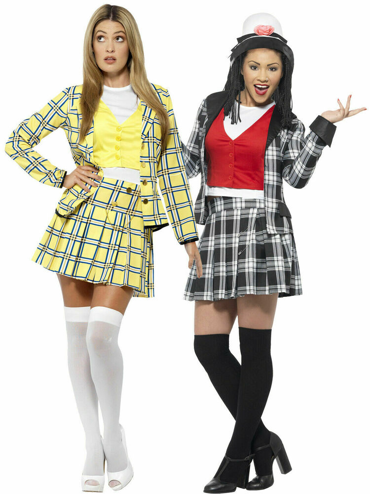 Adults Clueless Costume Ladies Cher Dionne Fancy Dress TV ...