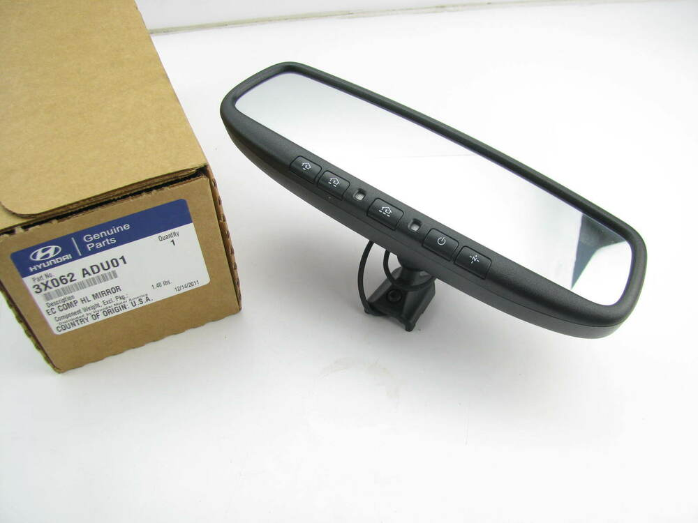 3x062adu01 Rear View Auto Dimming Homelink Mirror Oem For