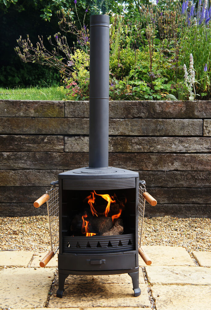 Hellfire Barbeque Bbq Outdoor Cast Iron Stove Chiminea