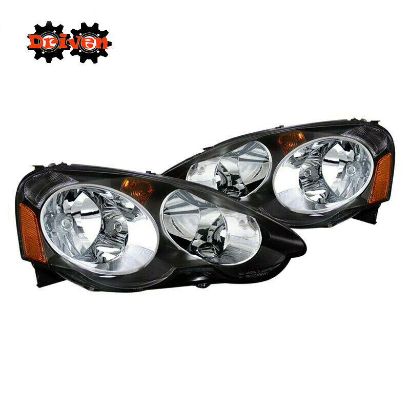 Acura Integra Headlights: 02-04 Acura Integra RSX DC5 Base Type S Black Housing