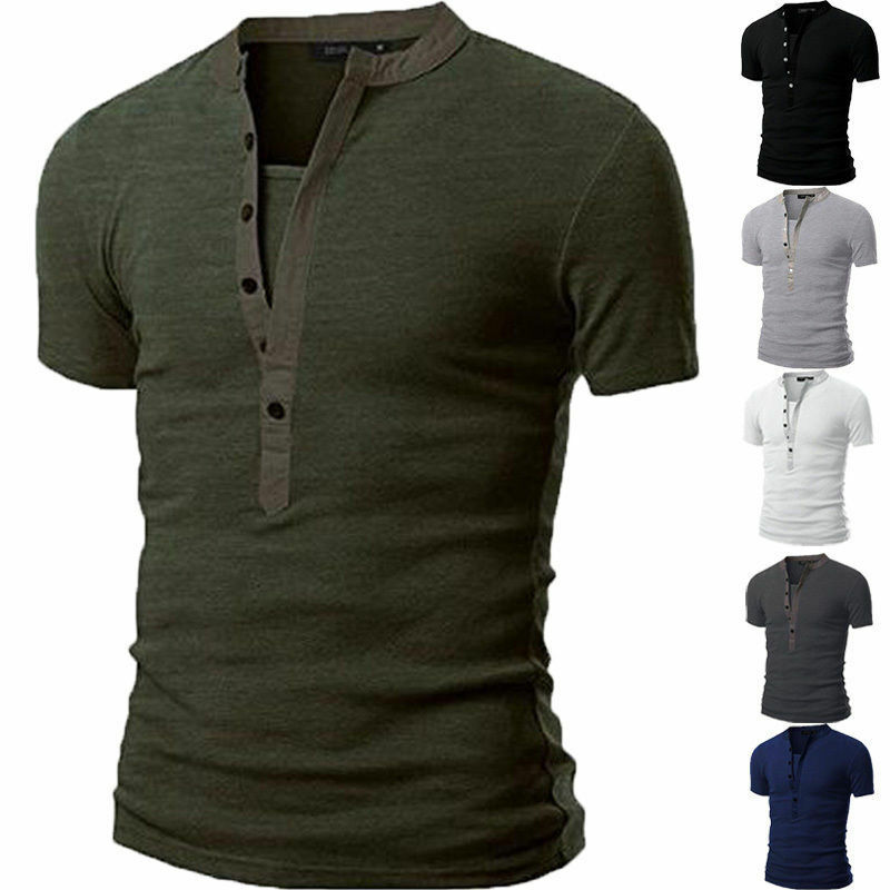Fashion men 39 s slim fit v neck short sleeve muscle tee t for Tahari t shirt mens