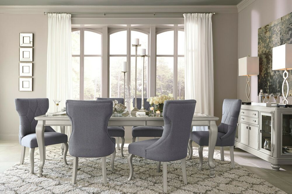 Ashley coralayne glitz n glam 7 piece dining set furniture for 7 piece dining room sets under 1000