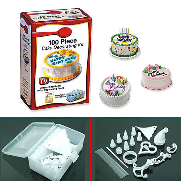 Kit Iniciacao Cake Design : 100 Piece DIY Cookies Muffin Cake Cupcake Icing Decorating ...