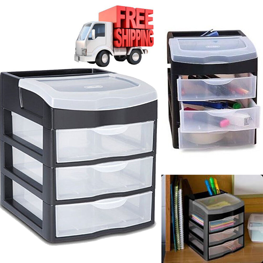 plastic storage drawers clear rack container sterilite box bin cabinet organizer ebay. Black Bedroom Furniture Sets. Home Design Ideas