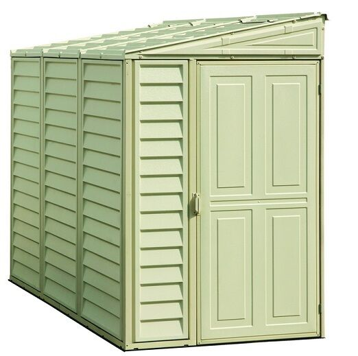 New duramax 06625 side mate 4x8 39 vinyl storage shed with for Side storage shed