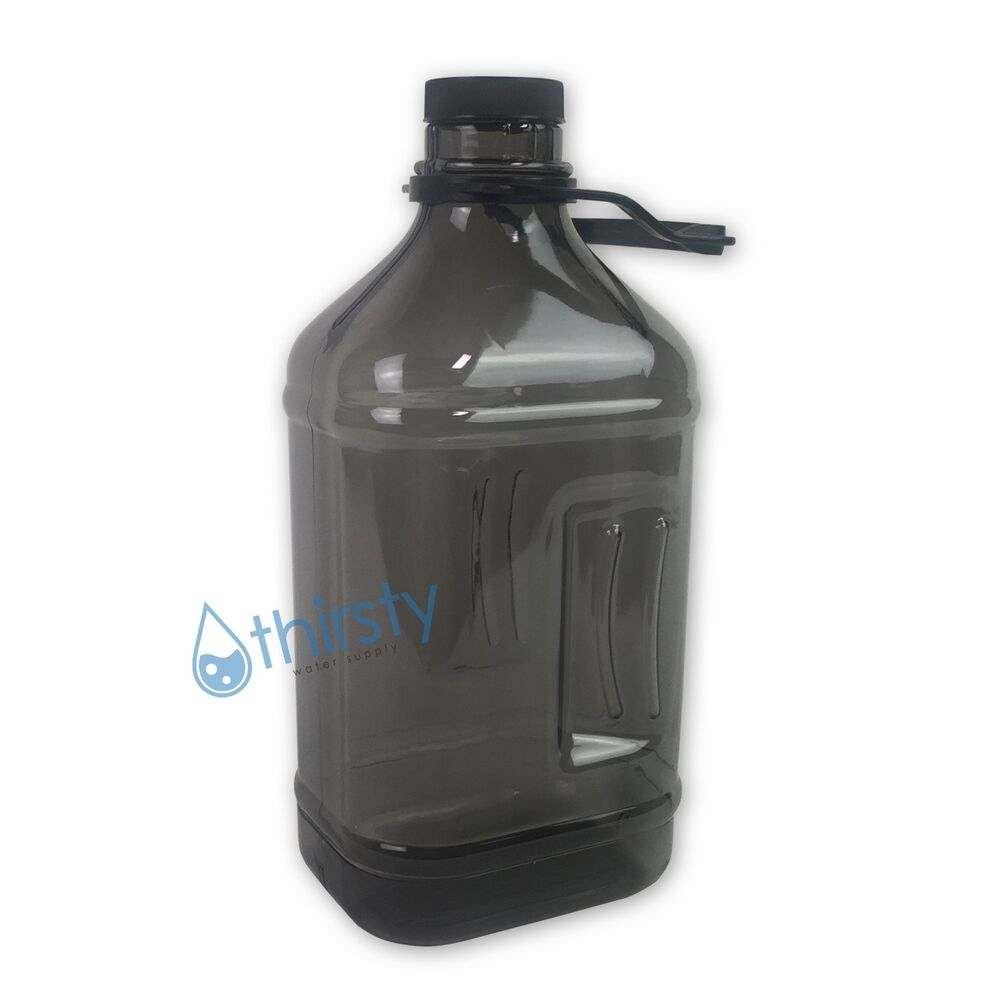 Grey Half Gallon Water Bottle Handle Drinking Gym Canteen