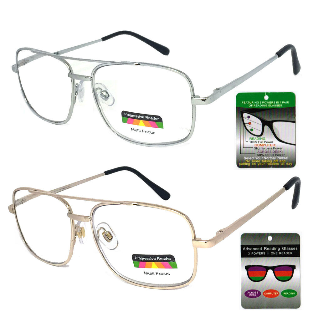 Glasses Frames Progressive Lens : Men Women PROGRESSIVE VARIFOCAL Lens No Line Reader ...