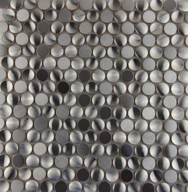 3d Penny Round Stainless Steel Metal Mosaic Tile Kitchen
