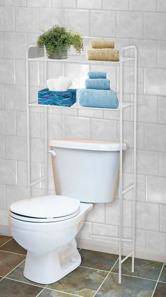 Home Basics New Over The Toilet White 2 Shelf Bathroom