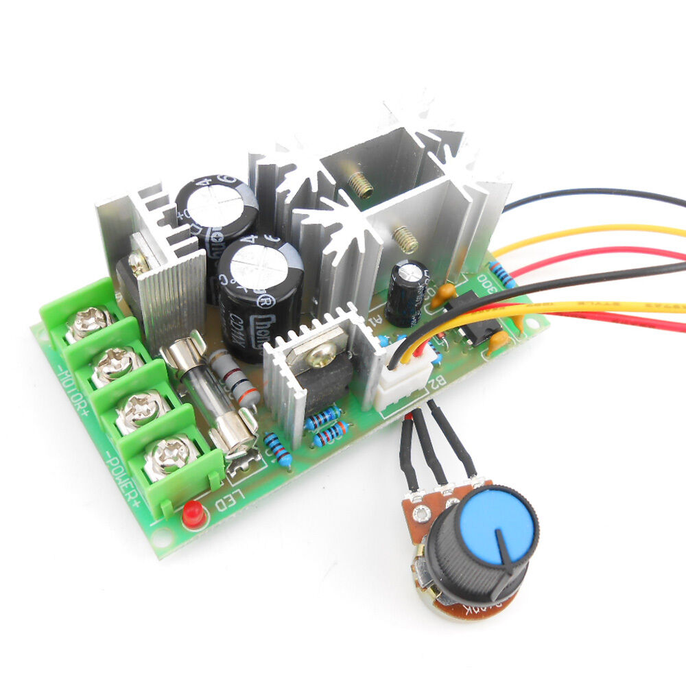 20a pwm dc motor speed controller 12v 24v 36v 48v w for Motor speed control pwm