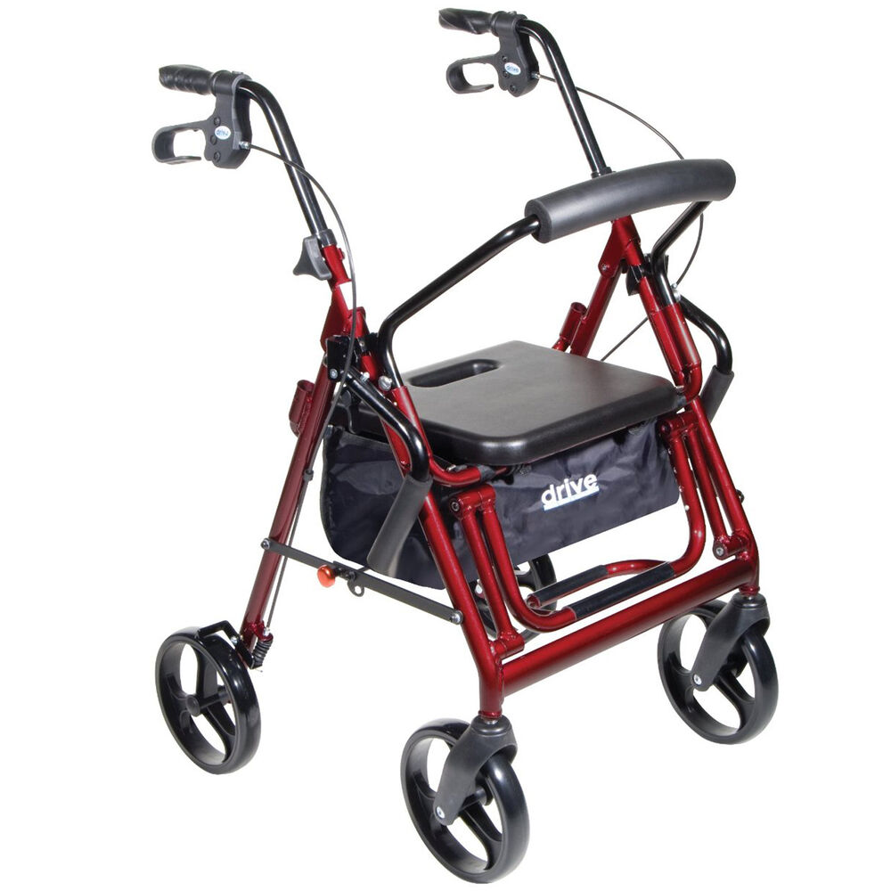 Transport Wheel Chair Rollator Folding Combo Medical Adult