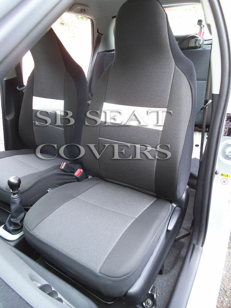 to fit a volvo v40 car seat covers anthracite white trim ebay. Black Bedroom Furniture Sets. Home Design Ideas