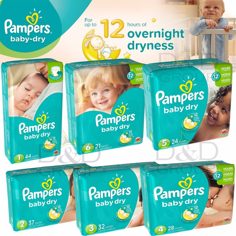 Pampers Baby Dry Disposable Diapers Big Pack All Size 1 2
