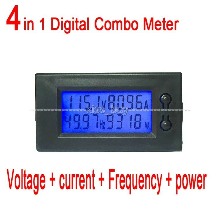 Voltage Frequency Meter : A ac digital lcd power panel meter monitor