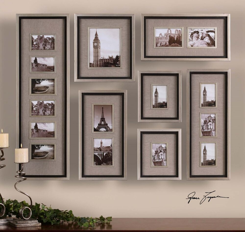 Wall Photo Frames Collage large set of quality picture photo wall frames collage art aged