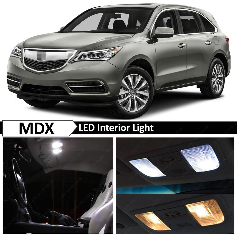 Details About 14x White Interior Led Lights Package Kit For 2017 2016 Acura Mdx