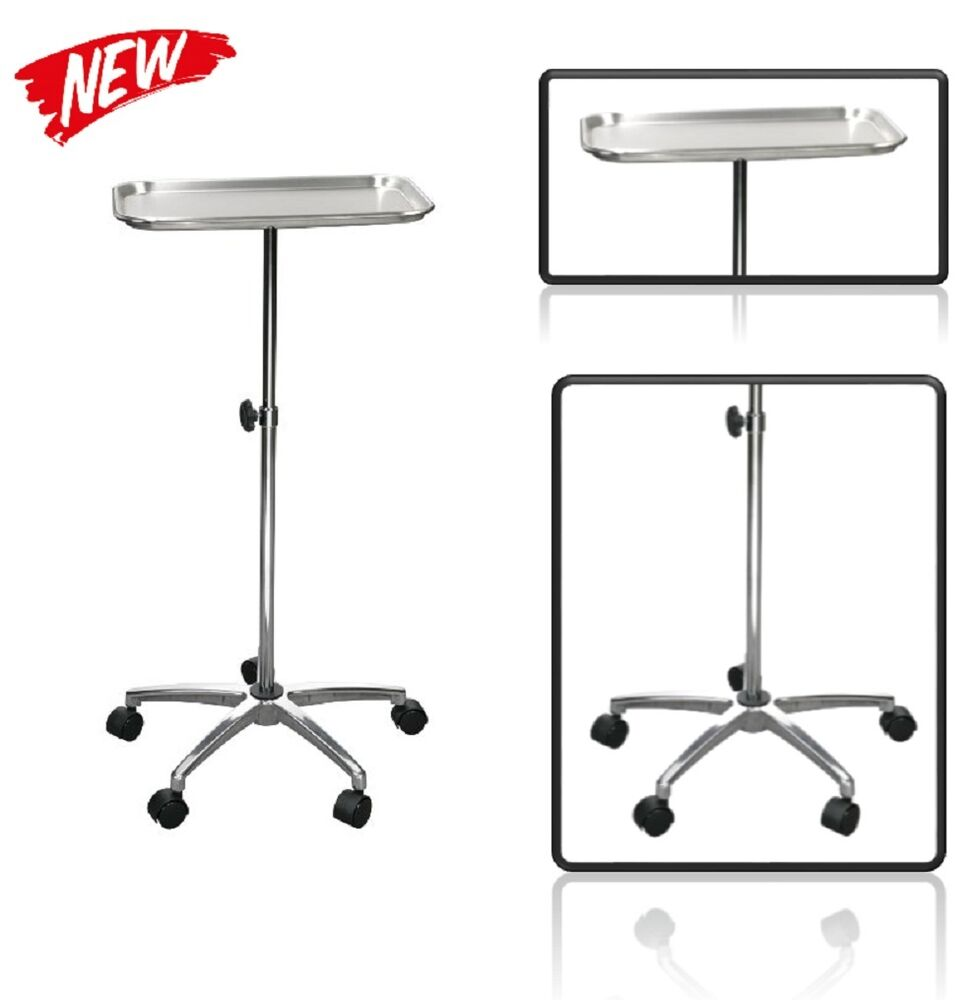 Adjustable Dental Instrument Tray Medical Rolling Cart Lab