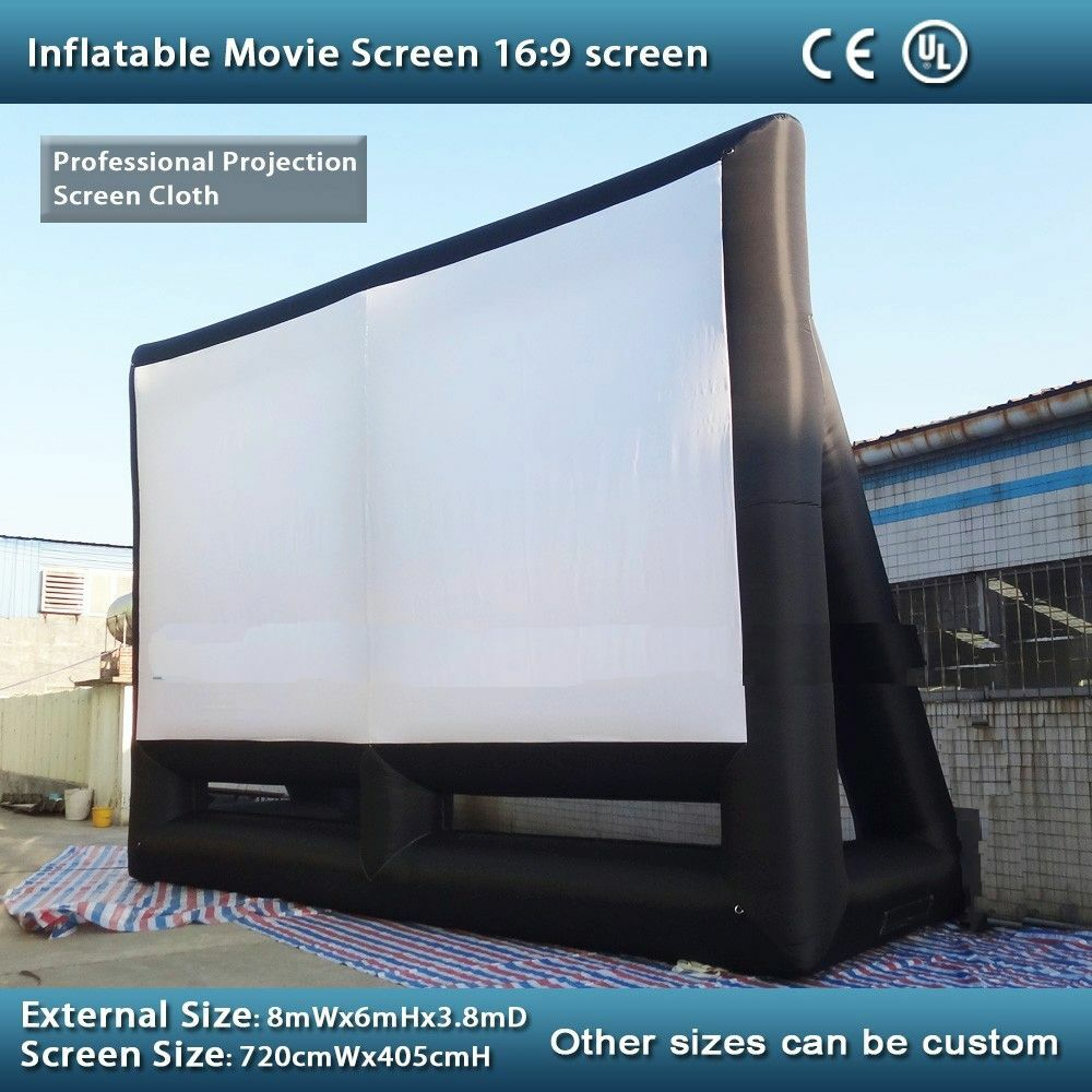 Large Inflatable Movie Screen 26ft X 20ft Inflatable