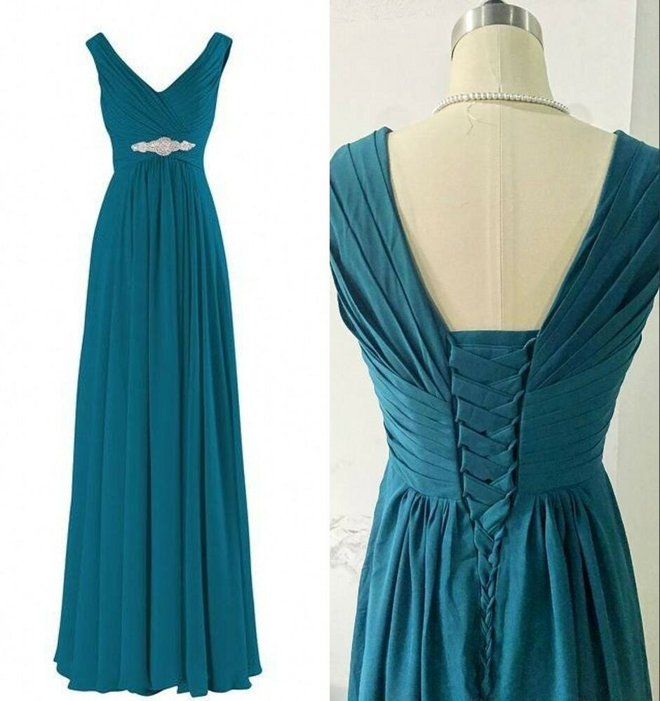Teal Wedding Gown: 2016 Teal Blue Bridesmaid Dresses Women Formal Prom Party