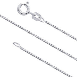Kyпить Sterling Silver 1mm Box Chain Necklace for Pendants 925 Italy Wholesale Prices на еВаy.соm