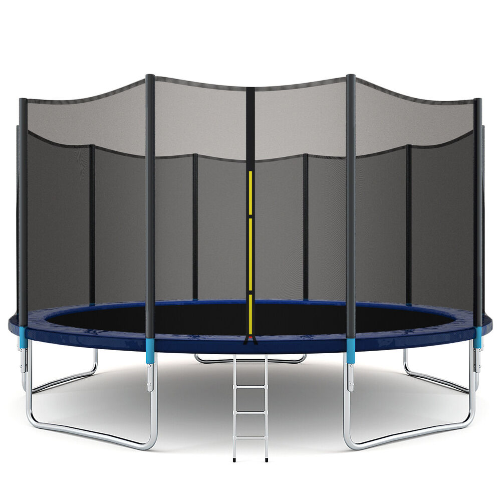 New 14ft Trampoline Combo Bounce Jump Safety Enclosure Net: New 15FT Trampoline Combo Bounce Jump Safety Enclosure Net