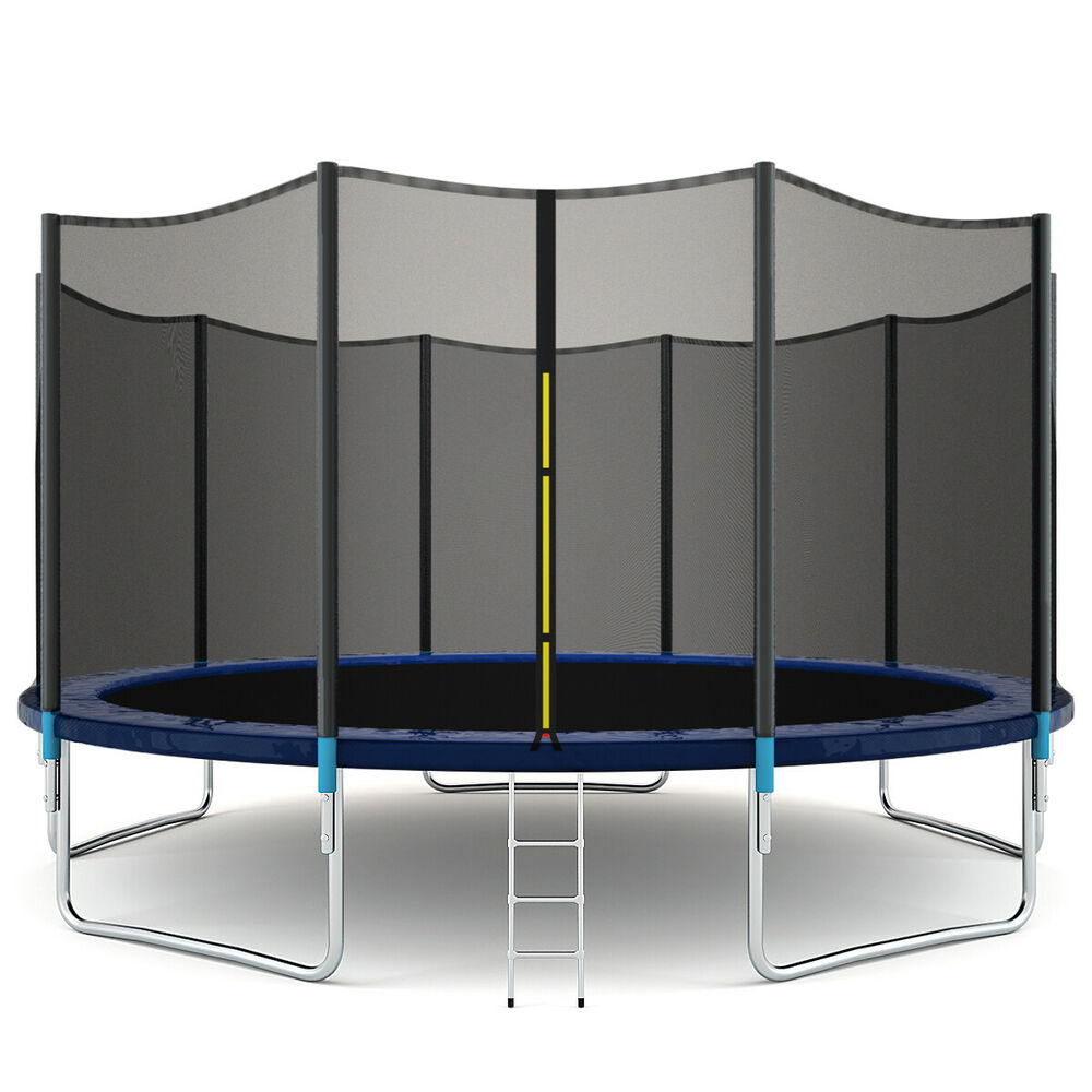 14 Ft Trampoline Combo Bounce Jump Safety W Spring Pad: New 15FT Trampoline Combo Bounce Jump Safety Enclosure Net