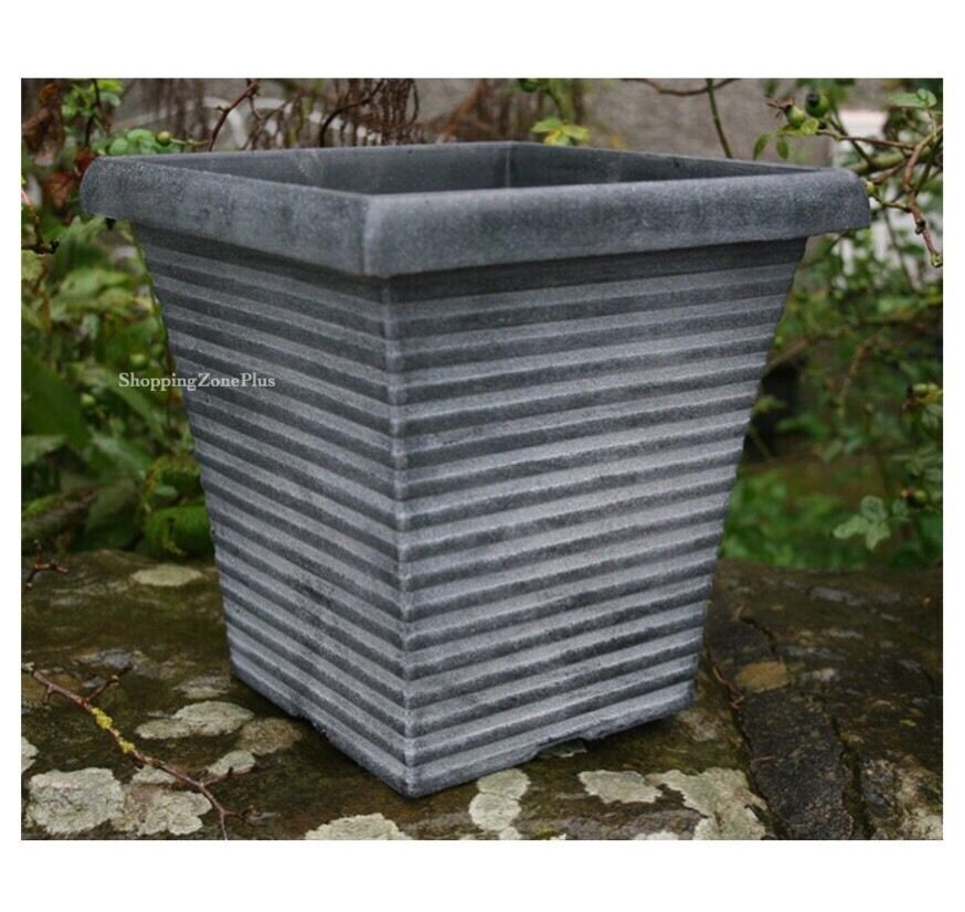 New Large 2 X Tall Tapered Square Planter Pot Garden Patio