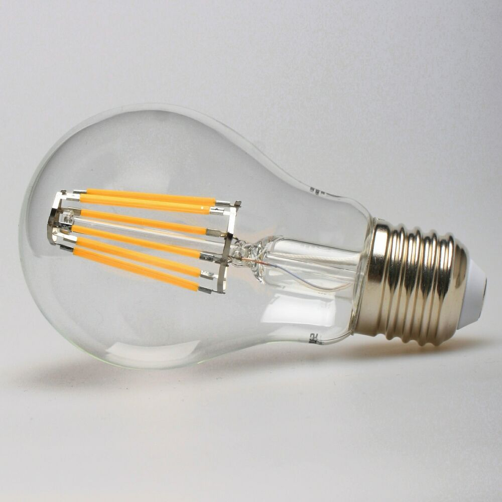 2 pack led filament light bulb 8w 60 watt a19 e26 warm edison w spot ebay. Black Bedroom Furniture Sets. Home Design Ideas