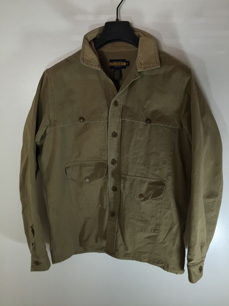 Rugby Ralph Lauren Bird Hunting Military Field Jacket Size
