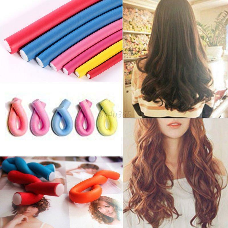 hair curler styles s 10pcs curler makers soft foam bendy curls diy 6534 | s l1000