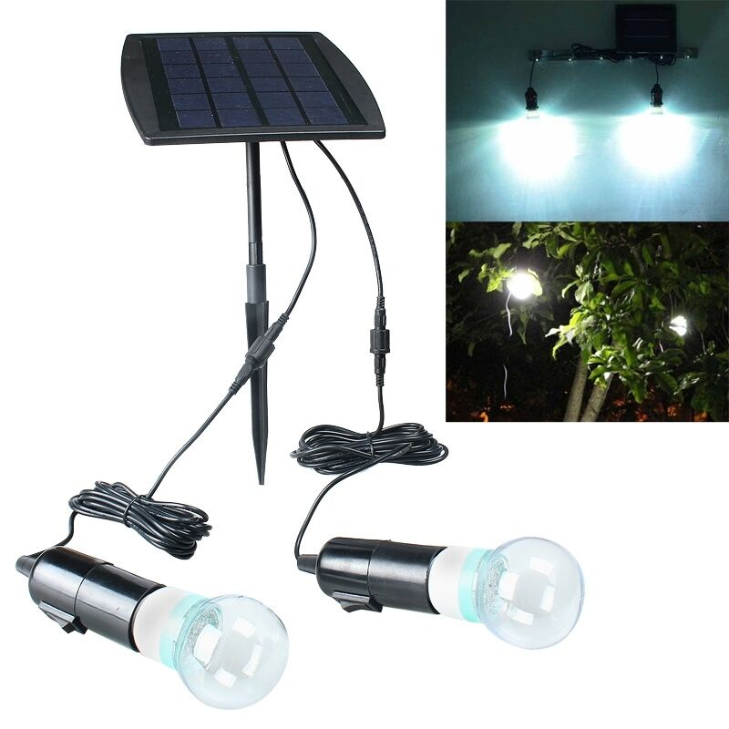 Portable Solar Panel Power Led Light Lamp Bulb Outdoor