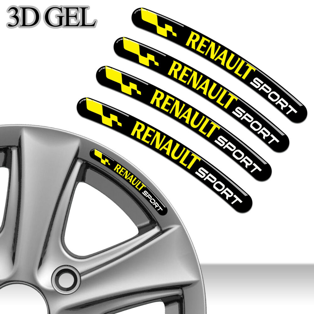4 domed 3d rim wheel stickers stripe renault sport car auto emblem tuning c89 ebay. Black Bedroom Furniture Sets. Home Design Ideas